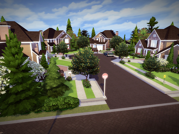 Springdale Court NO CC by melcastro91 at TSR image 1220 Sims 4 Updates