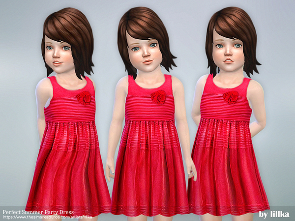 Perfect Summer Party Dress by lillka at TSR image 1239 Sims 4 Updates