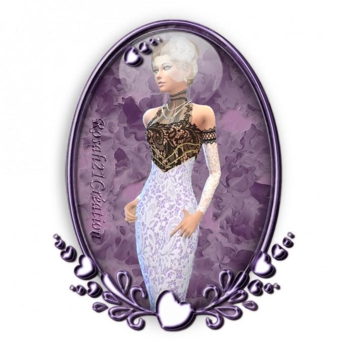 Sims 4 1900s dress by Rosah at Sims Dentelle