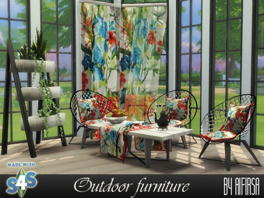 Outdoor set at Aifirsa image 1287 Sims 4 Updates