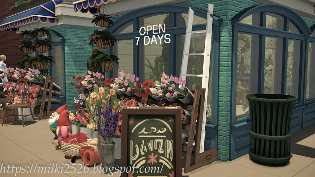Flower shop with apartment at Milki2526 image 1297 Sims 4 Updates
