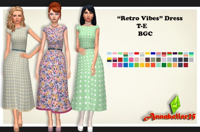 Retro Vibes Dress by Annabellee25 at SimsWorkshop image 1302 670x443 Sims 4 Updates