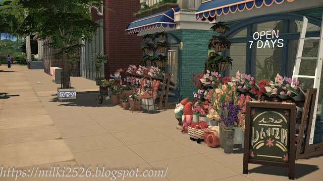Flower shop with apartment at Milki2526 image 1308 Sims 4 Updates