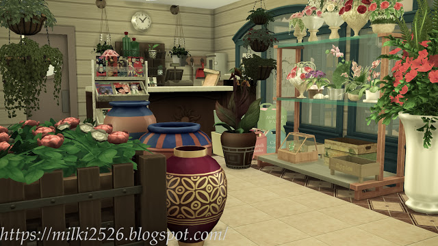 Flower shop with apartment at Milki2526 image 13115 Sims 4 Updates