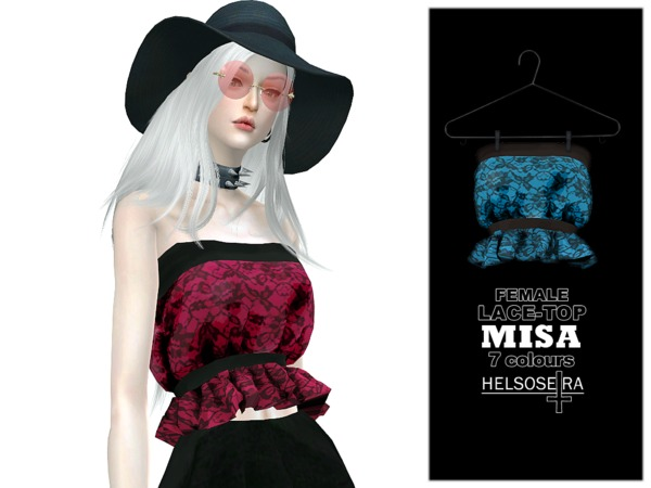 MISA Lace Top FM by Helsoseira at TSR image 1318 Sims 4 Updates