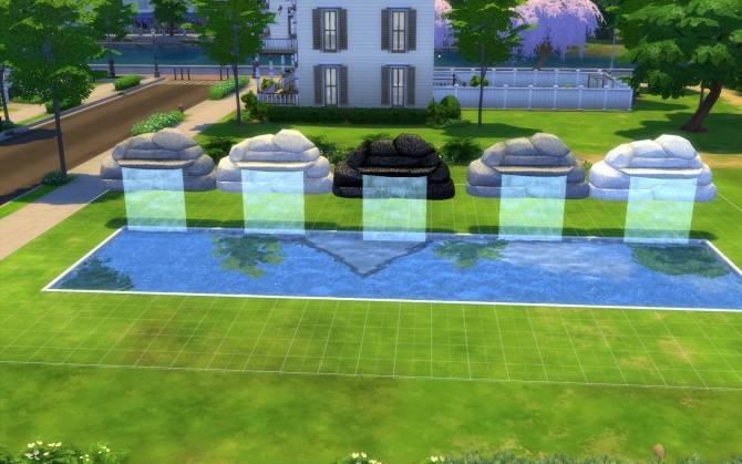 Three Waterfalls by fire2icewitch at Mod The Sims image 13213 670x419 Sims 4 Updates