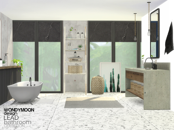Lead Bathroom by wondymoon at TSR image 1338 Sims 4 Updates