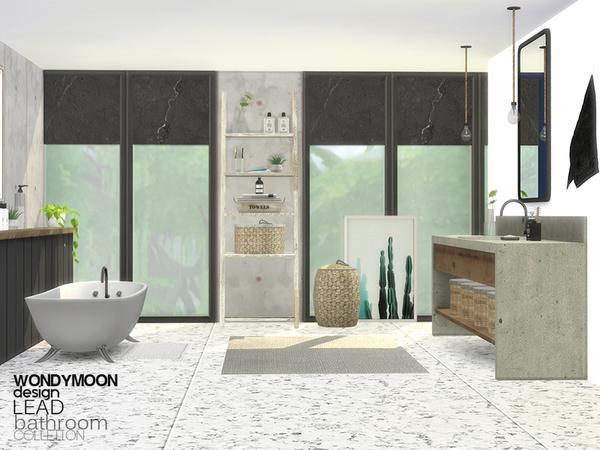 Sims 4 Lead Bathroom by wondymoon at TSR