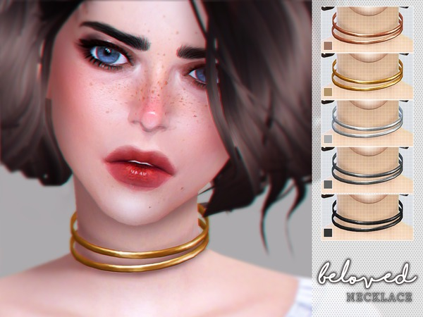 Beloved Choker Necklace by Screaming Mustard at TSR image 1339 Sims 4 Updates
