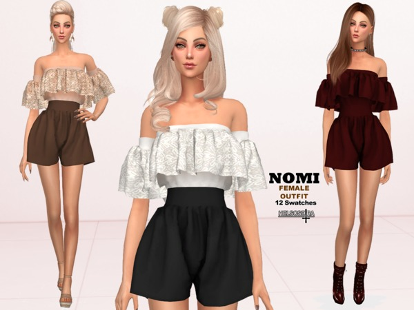 Sims 4 NOMI outfit by Helsoseira at TSR