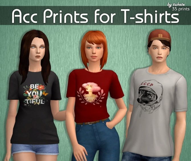 Acc Prints for T shirts at Tukete image 1364 670x563 Sims 4 Updates