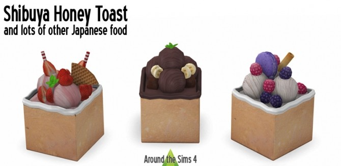 Japanese Food Takeaways & Honey Toasts at Around the Sims 4 image 1377 670x327 Sims 4 Updates