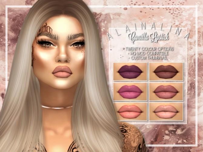 Camilla Lipstick at AlainaLina image 1384 670x503 Sims 4 Updates