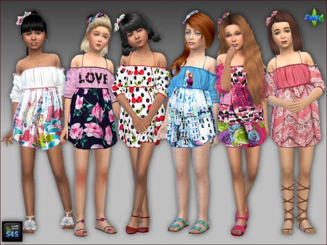 Summer dresses and hair bows for girls by Mabra at Arte Della Vita image 1399 670x503 Sims 4 Updates