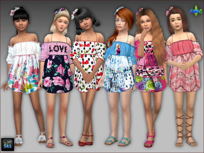 Summer Dresses And Hair Bows For Girls By Mabra At Arte