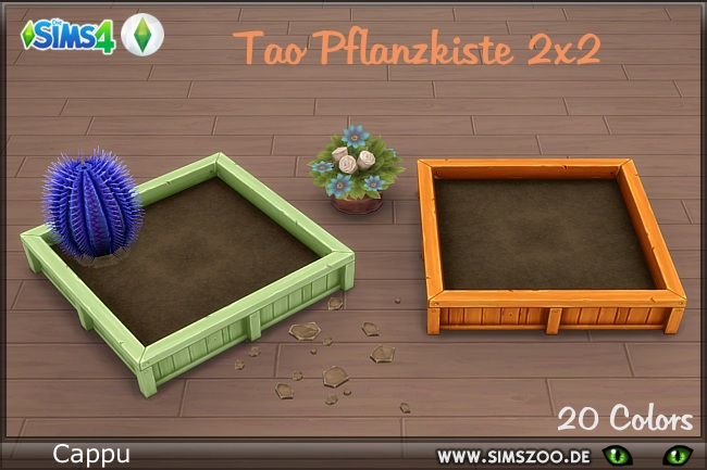 TAO planter 2x2 by Cappu at Blacky's Sims Zoo image 1407 Sims 4 Updates