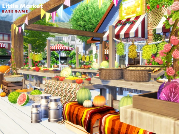 Little Market by Pralinesims at TSR image 1410 Sims 4 Updates