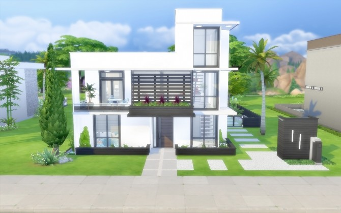 Modern House 43 at Via Sims image 1422 670x419 Sims 4 Updates