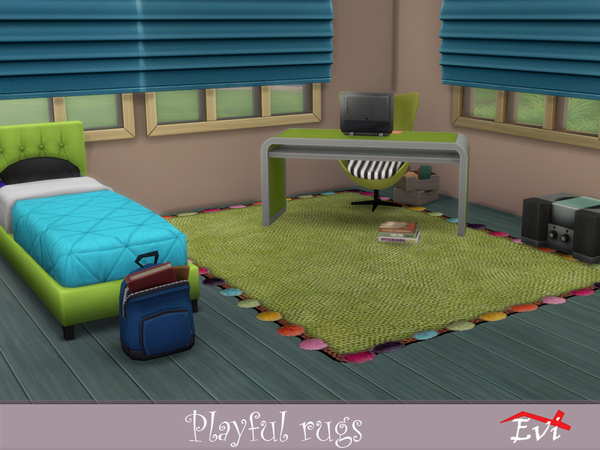 Sims 4 Playful Rugs by evi at TSR