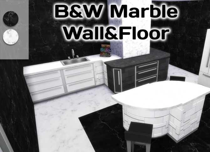 Black&White Marble at Simming With Mary image 14310 670x485 Sims 4 Updates
