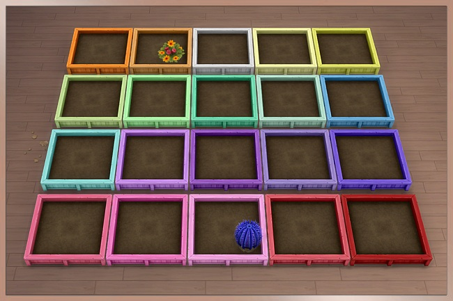 Sims 4 TAO planter 2x2 by Cappu at Blacky's Sims Zoo