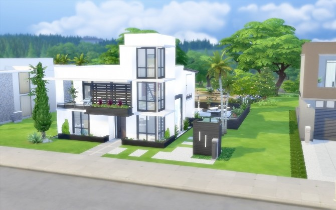 Modern House 43 at Via Sims image 1432 670x419 Sims 4 Updates