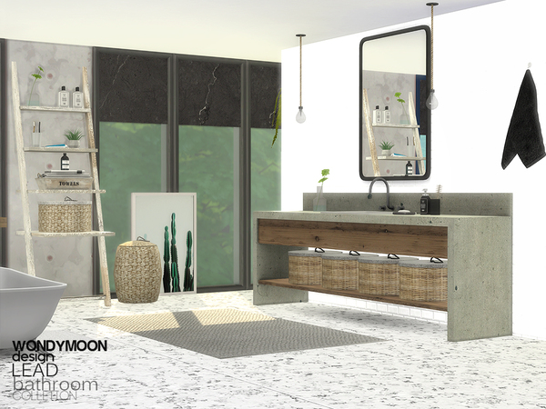 Lead Bathroom by wondymoon at TSR image 1438 Sims 4 Updates