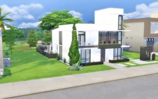 Modern House 43 at Via Sims image 1442 670x419 Sims 4 Updates