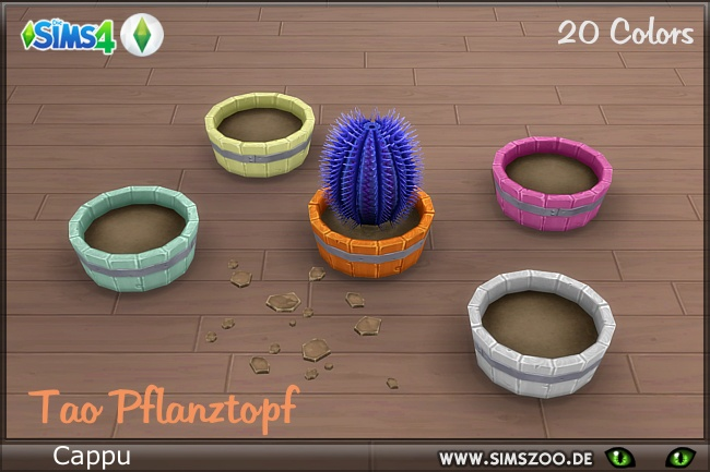 Sims 4 TAO planter by Cappu at Blacky's Sims Zoo