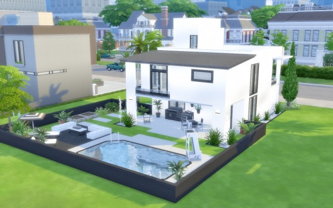Modern House 43 at Via Sims image 1452 670x419 Sims 4 Updates