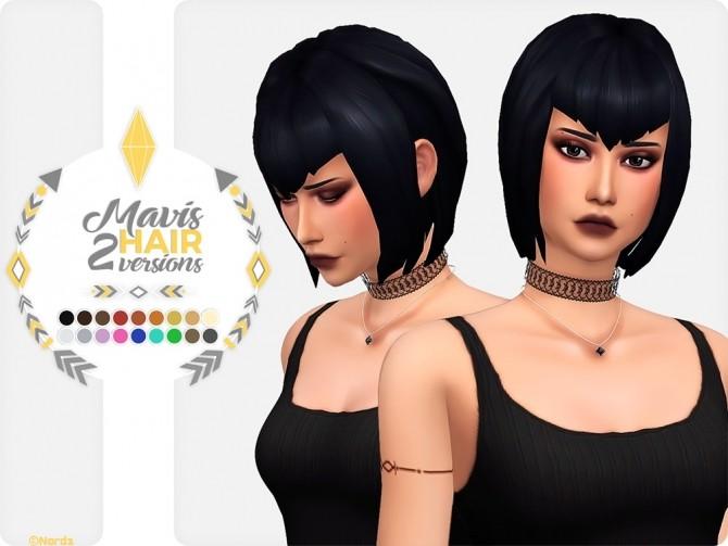 Mavis Dracula Hair at Nords Sims image 1454 670x503 Sims 4 Updates