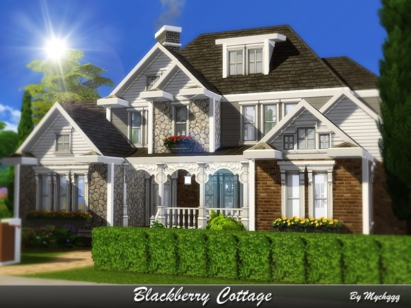 Sims 4 Blackberry Cottage by MychQQQ at TSR