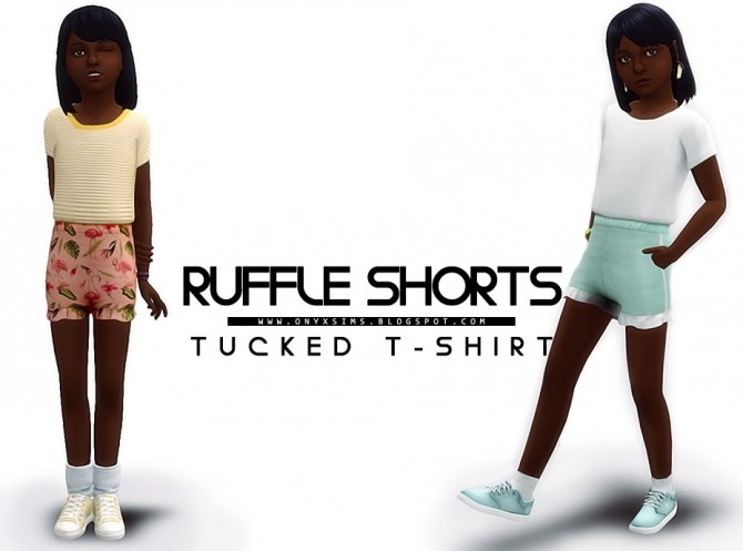 Ruffle Shorts & Tucked T at Onyx Sims image 1462 670x497 Sims 4 Updates