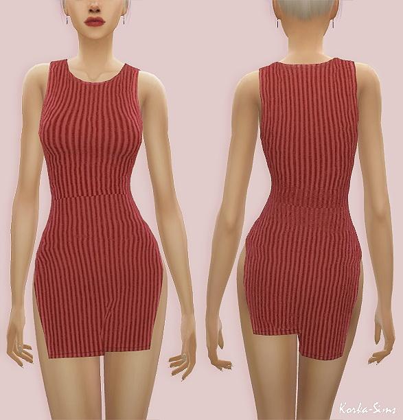 Milana Dress at Korka Sims image 1477 Sims 4 Updates