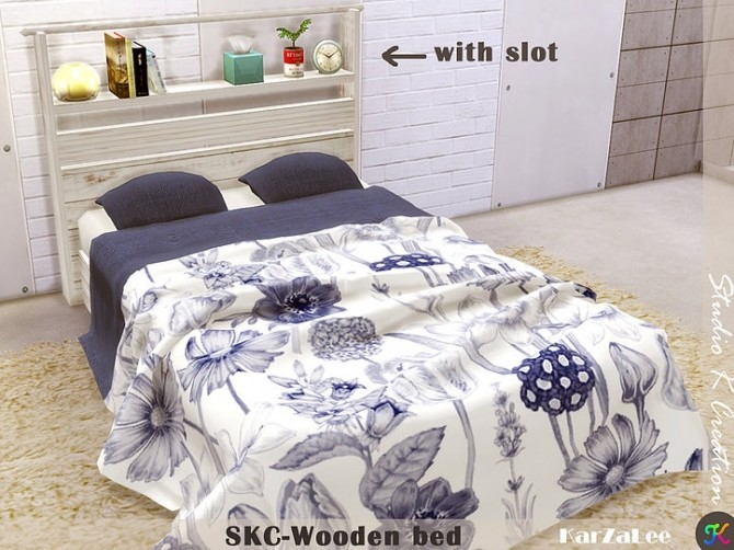 SKC Wooden bed at Studio K Creation image 150 670x502 Sims 4 Updates