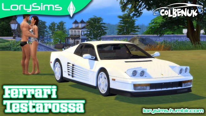 Ferrari Testarossa at LorySims image 1503 670x377 Sims 4 Updates