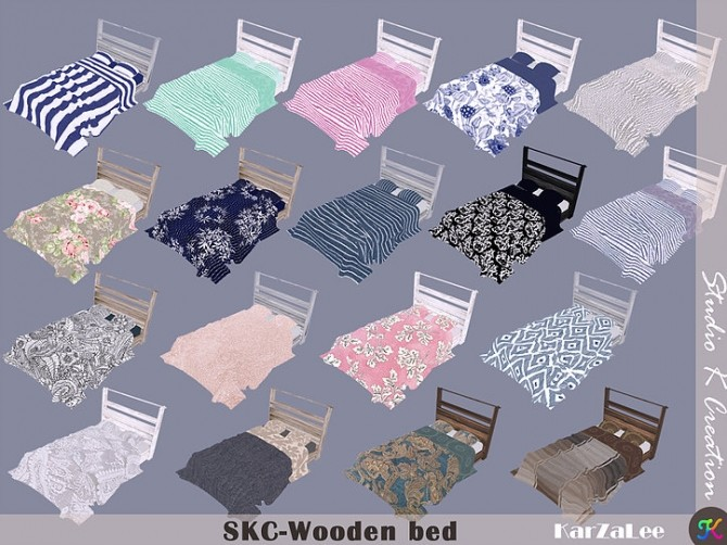 SKC Wooden bed at Studio K Creation image 151 670x502 Sims 4 Updates