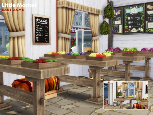 Little Market by Pralinesims at TSR image 1510 Sims 4 Updates