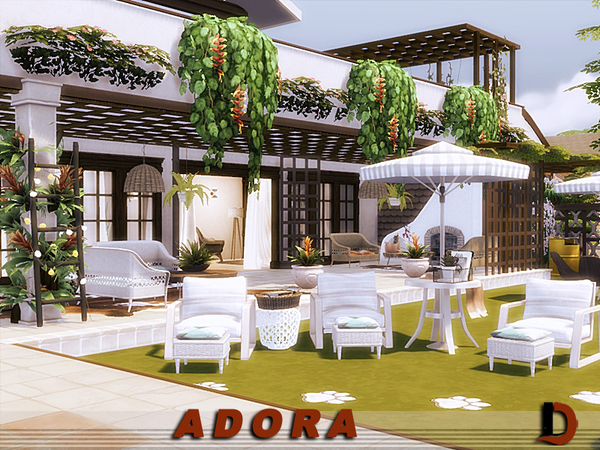 Sims 4 ADORA house by Danuta720 at TSR