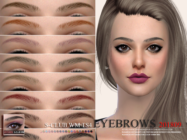Eyebrows 201809 by S Club WM at TSR image 1519 Sims 4 Updates