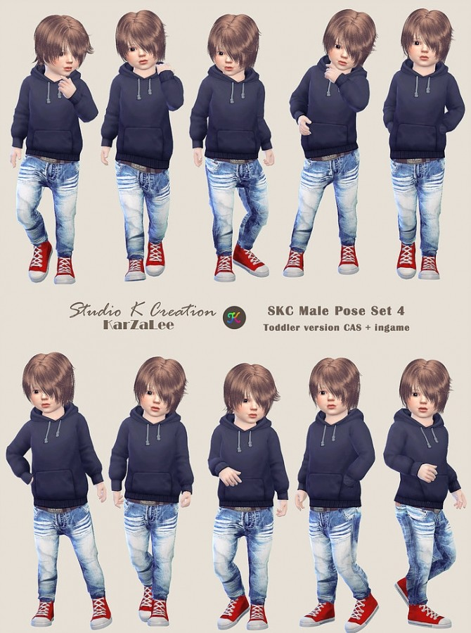 SKC Male Pose Set 4 toddler version at Studio K Creation image 1561 670x900 Sims 4 Updates