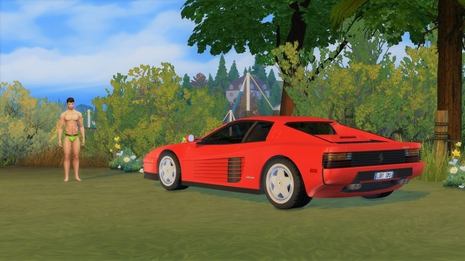 Ferrari Testarossa at LorySims image 1563 670x377 Sims 4 Updates