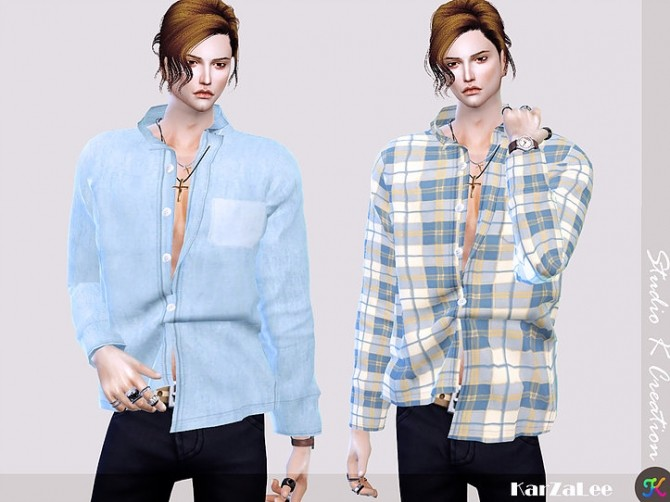 Giruto 55 button down shirt at Studio K Creation image 1582 670x502 Sims 4 Updates