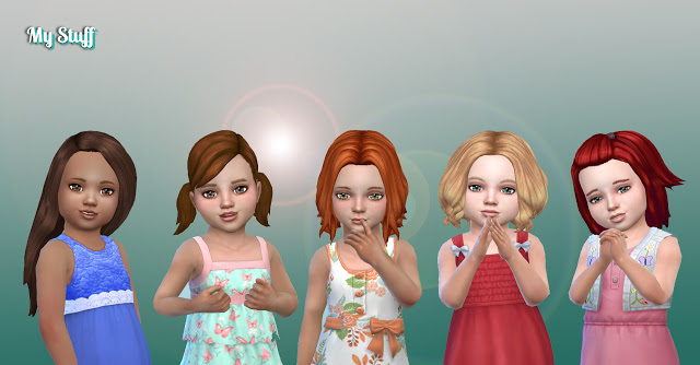 Sims 4 Toddlers Hair Pack 20 at My Stuff
