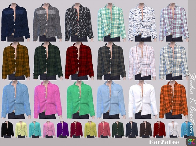 Giruto 55 button down shirt at Studio K Creation image 1592 670x502 Sims 4 Updates
