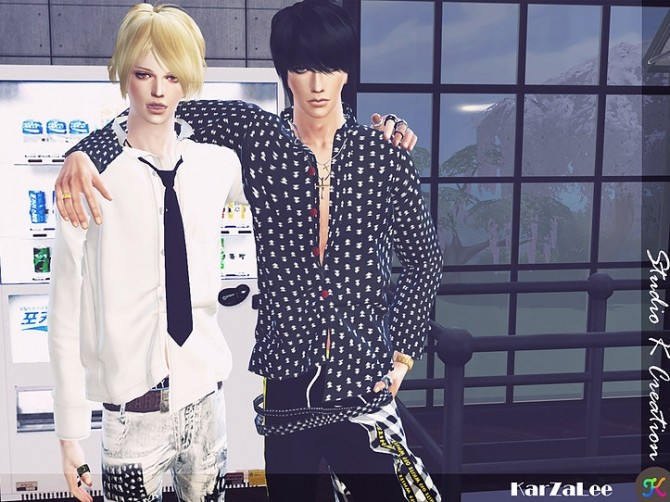 Giruto 55 button down shirt at Studio K Creation image 1602 670x502 Sims 4 Updates