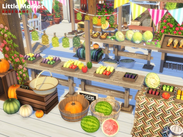 Little Market by Pralinesims at TSR image 1610 Sims 4 Updates
