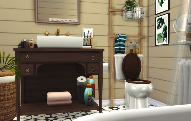 Clawfoot Bathroom at Pyszny Design image 16111 670x426 Sims 4 Updates