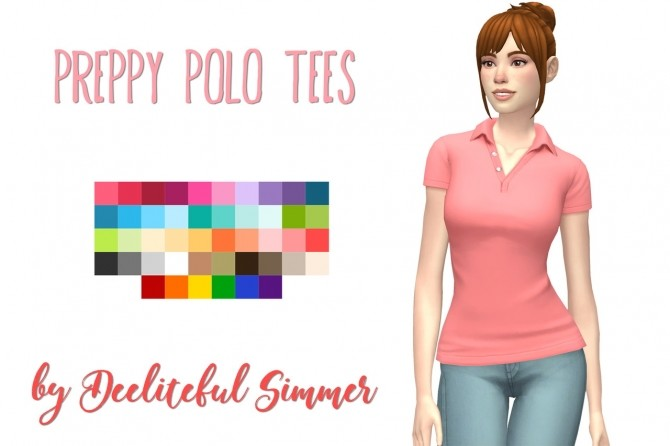 Preppy polo tees at Deeliteful Simmer image 16113 670x446 Sims 4 Updates