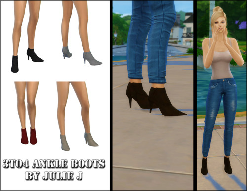 Sims 4 3to4 Ankle Boots at Julietoon – Julie J